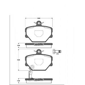2 BREMSSCHEIBEN 280mm + BELÄGE VORNE SMART FORTWO CABRIO 450 452 Pic:2