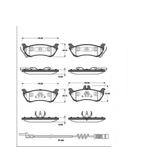 2 BREMSSCHEIBEN 285mm + BELÄGE HINTEN MERCEDES-BENZ M-KLASSE ML W163 Pic:2