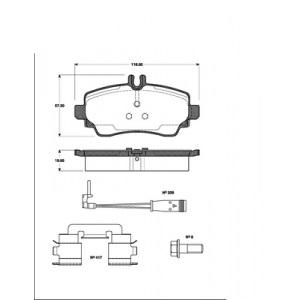 2 BREMSSCHEIBEN 270mm belüftet + BELÄGE VORNE MERCEDES VANEO 414  BIS 12.2005 Pic:2