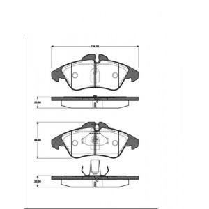 BREMSSCHEIBEN 276mm belüftet + BREMSBELÄGE VORNE MERCEDES SPRINTER VW LT 28-46 Pic:2