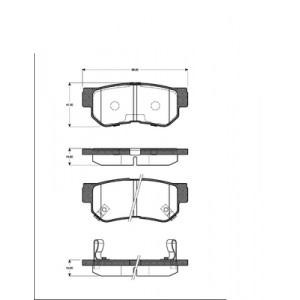 2 BREMSSCHEIBEN Ø284mm + BELÄGE HINTEN HYUNDAI SANTA FE TRAJET TUCSON Pic:2