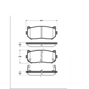BREMSSCHEIBEN 261mm + BREMSBELÄGE HINTEN KIA CLARUS CARENS BREMSEN-SET Pic:2