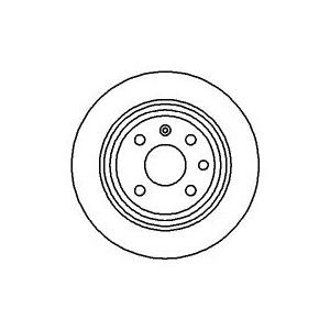 BREMSSCHEIBEN 260mm+ BELÄGEBELÄGE HINTEN OPEL ASTRA F 1.8 2.0 16V CABRIO CARAVAN Pic:1