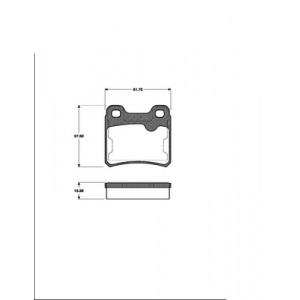 BREMSSCHEIBEN 260mm + BREMSBELÄGE HINTEN OPEL ASTRA F + VECTRA A Pic:2