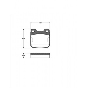 2 BREMSSCHEIBEN 270mm + BELÄGE HINTEN OPEL VECTRA B + CARAVAN 4-Loch BREMSE Pic:2