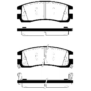 2 BREMSSCHEIBEN 278mm + BREMSBELÄGE HINTEN OPEL SINTRA CHEVROLET TRANS SPORT Pic:2