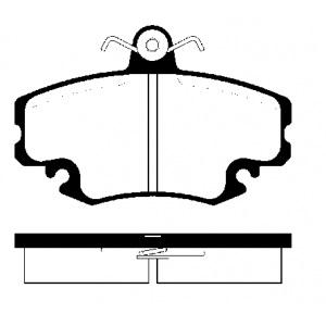 2 BREMSSCHEIBEN 238x12mm massiv + BELÄGE VORNE RENAULT TWINGO 1 CLIO Pic:2