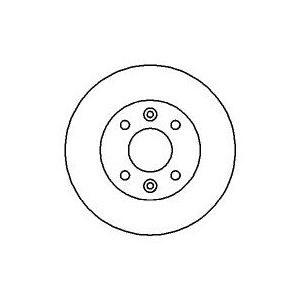 BREMSSCHEIBEN innenbelüftet + BREMSBELÄGE (BENDIX-Bremssystem) BREMSEN VORNE Pic:1