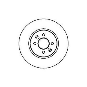 BREMSSCHEIBEN 280mm belüftet + BREMSBELÄGE VORNE RENAULT MEGANE SCENIC 4-LOCH Pic:1