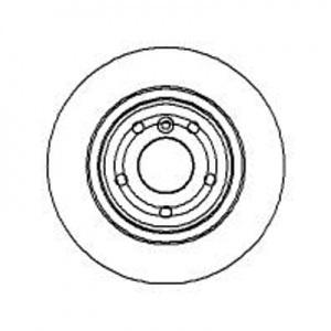 BREMSSCHEIBEN 304,5mm + BREMSBELÄGE HINTEN LAND ROVER DISCOVERY II (LJ,LT,LP) Pic:1