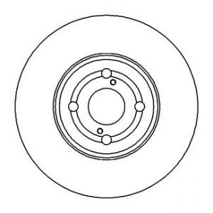 BREMSSCHEIBEN Ø275mm + BREMSBELÄGE VORNE TOYOTA COROLLA (E12) 1.4 2.0 D 1.8 Pic:1