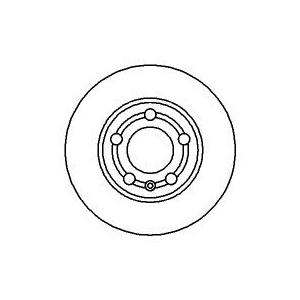 2 BREMSSCHEIBEN 232mm + BELÄGE HINTEN AUDI A3 (8L1) 1.6 1.8 T  1.9 TDI 90-180 PS Pic:1