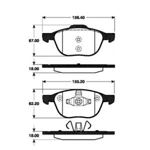 BREMSSCHEIBEN 278mm + BREMSBELÄGE VORNE FORD FOCUS C-MAX VOLVO V50 V70 C30 S40 Pic:2