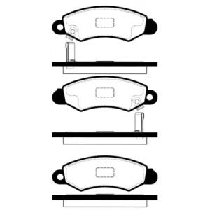 2 BREMSSCHEIBEN 231mm + BELÄGE VORNE SUZUKI SWIFT II SUBARU JUSTY II Pic:2