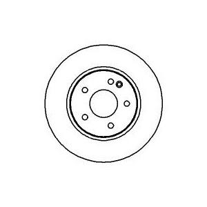 2x BREMSSCHEIBEN Ø284mm+BELÄGE VORNE MERCEDES C KLASSE W202 AB BJ 03.93-05.00 Pic:1
