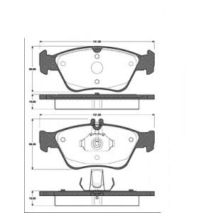 BREMSSCHEIBEN 288mm belüftet +BELÄGE VORNE MERCEDES C-KLASSE (W202) BIS Bj. 2005 Pic:2