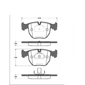 1 SATZ BREMSBELÄGE VORNE BMW 5 (E39) BMW 7 (E38) BMW X3 (E83) BMW X5 (E53) Pic:1