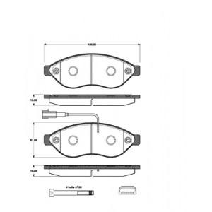 1 SATZ BREMSBELÄGE VORNE CITROËN JUMPER  FIAT DUCATO  PEUGEOT BOXER Pic:1