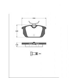 1 SATZ BREMSBELÄGE HINTEN  ALFA GTV + SPIDER  (916) Pic:1