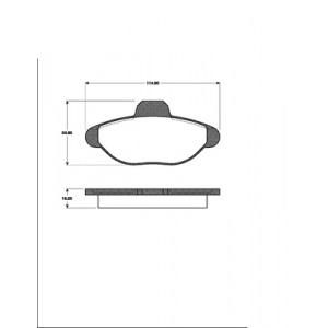 1 SATZ BREMSBELÄGE (4 Stück) VORNE / VORDERACHSE alle FIAT CINQUECENTO SEICENTO Pic:1