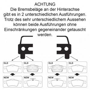 BREMSSCHEIBEN 278mm + BREMSBELÄGE HINTEN FORD TOURNEO CONNECT MIT ABS Pic:4