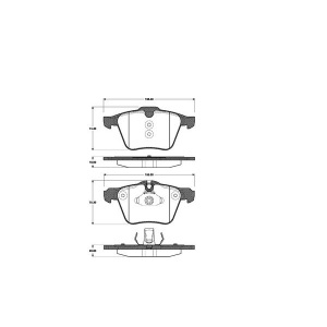 1 SATZ BREMSBELÄGE VORNE FORD GALAXY   S-MAX  VOLVO S60  S80  V60  V70  XC70 Pic:1