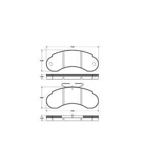 1 SATZ BREMSBELÄGE VORNE MERCEDES G-KLASSE W450 W461 W463 T1  T2 + VW LT 40-55 Pic:1