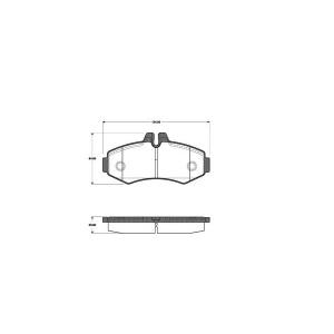 1 SATZ BREMSBELÄGE VORNE MERCEDES V-KLASSE (638/2) + VITO (638) (SYSTEM BOSCH) Pic:1