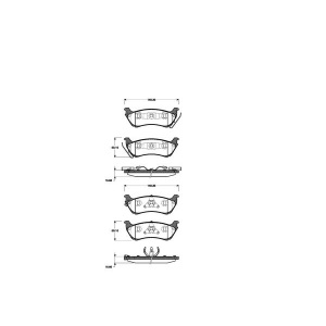 1 SATZ BREMSBELÄGE HINTEN MERCEDES M-KLASSE (W163) Pic:1