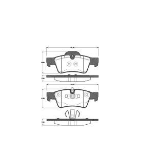 1 SATZ BREMSBELÄGE HINTEN MERCEDES GL, M + R-KLASSE (X164 W164 W251 V251) Pic:1