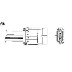 1 original NGK NTK Lambdasonde OTA7L-3C3 0442 Regelsonde Pic:1
