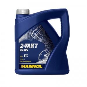 [4,12€/L] 4 Liter 2-Takt Öl Plus MANNOL Zweitaktöl teilsynthetisch 2T Motoröl