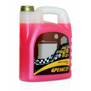 [2,38€/L] WOW 5 Liter Pemco 912+ Kühler Frostschutz bis -40°C/ rosa/ rot