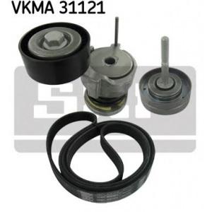 SKF KEILRIPPENRIEMEN-SATZ + SPANNROLLE VKMA31121 für SEAT SKODA VW 1.2 MIT KLIMA