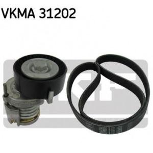 SKF KEILRIPPENRIEMEN-SATZ + SPANNROLLE VKMA 31202 für SEAT VW 1.0 1.3 1.4 1.6