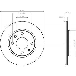 textar bremsscheiben 247mm bel ge vorne peugeot 206 sw. Black Bedroom Furniture Sets. Home Design Ideas