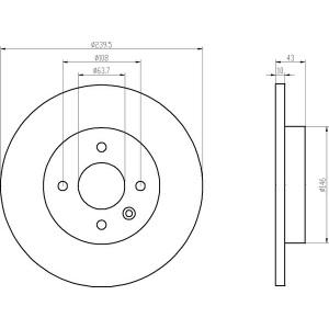 textar bset vorne ford fiesta 3 240mm. Black Bedroom Furniture Sets. Home Design Ideas