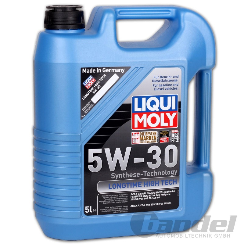 liqui moly 1137 longtime high tech motor l 5w 30 5 liter. Black Bedroom Furniture Sets. Home Design Ideas
