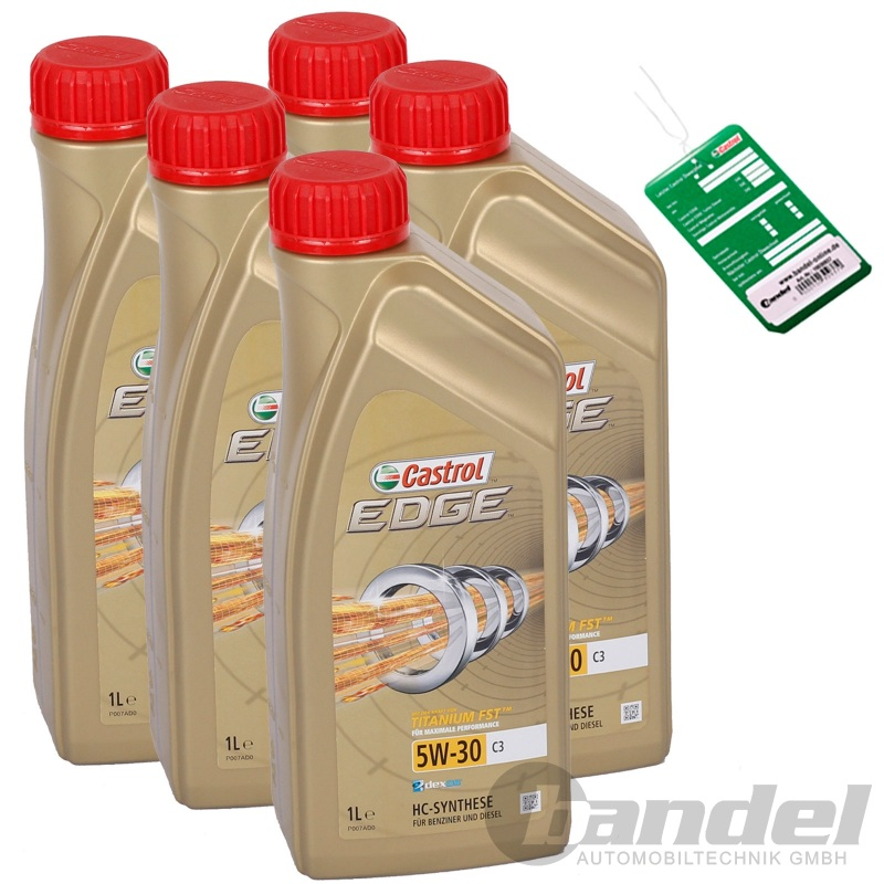 5x1l castrol edge fst 5w30 longlife l vw audi bmw. Black Bedroom Furniture Sets. Home Design Ideas