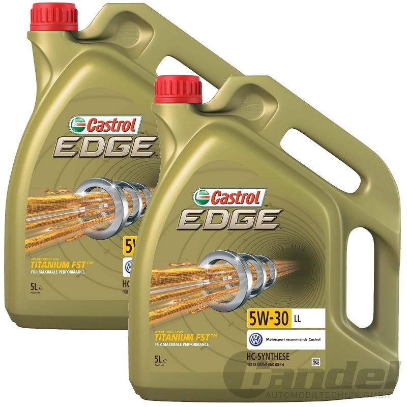 10 liter castrol edge titanium fst 5w 30 motor l vw 504 00 507 00. Black Bedroom Furniture Sets. Home Design Ideas