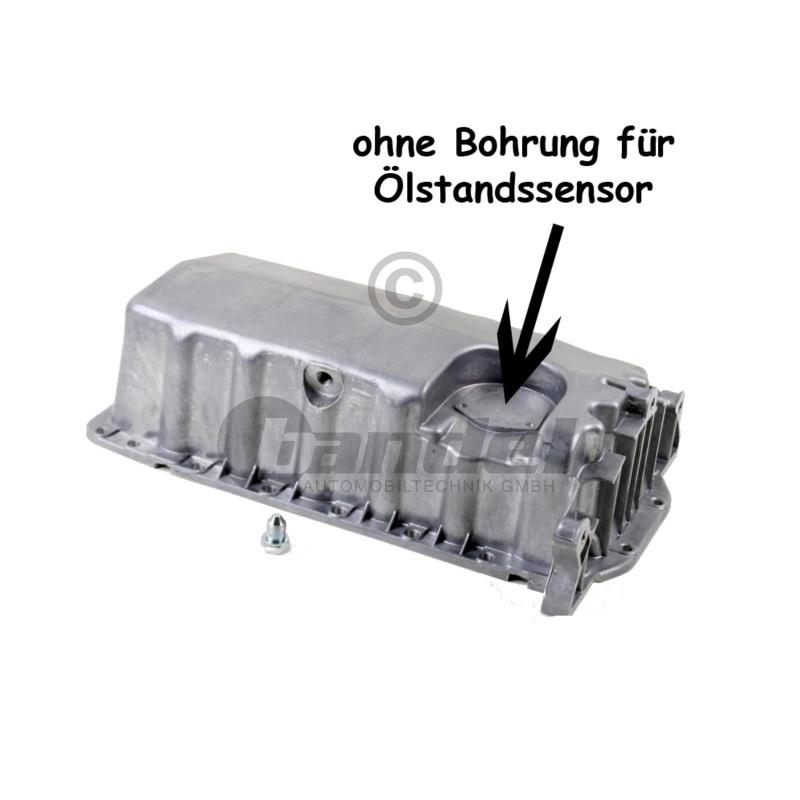 ÖLWANNE ALU Aluminium ohne Bohrung für Ölstandsensor VW