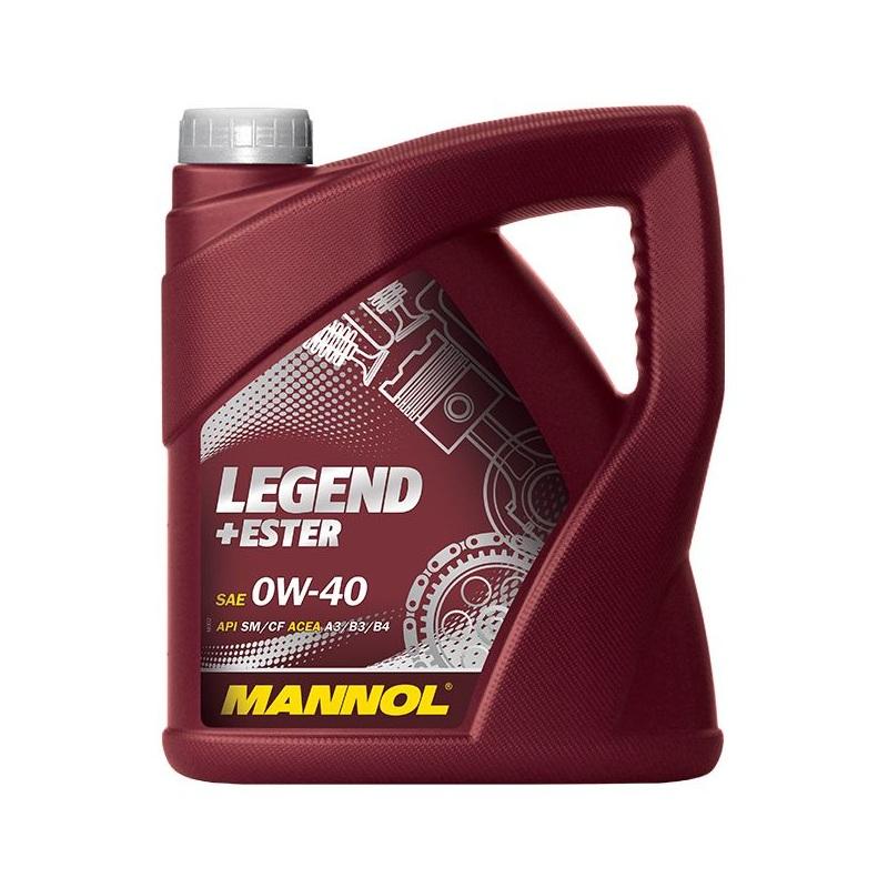 [6,00€/L] 4 LITER MOTORÖL ÖL MANNOL SAE 0W-40 API SM/CF LEGEND+ESTER