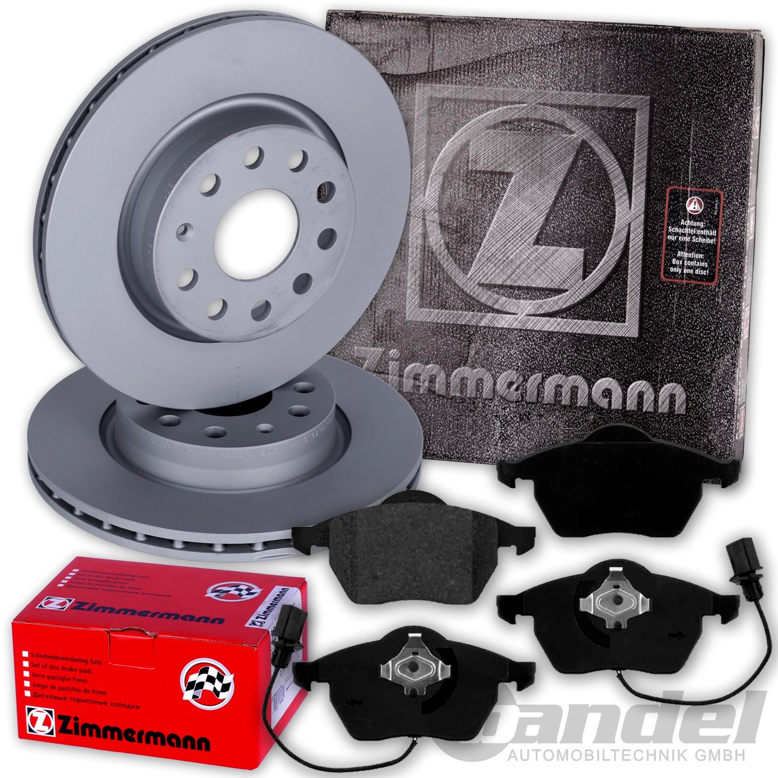 Zimmermann Sport Bremsen Set Bremsscheiben Bremsbeläge Audi A6 4F PR 1LG 1KD