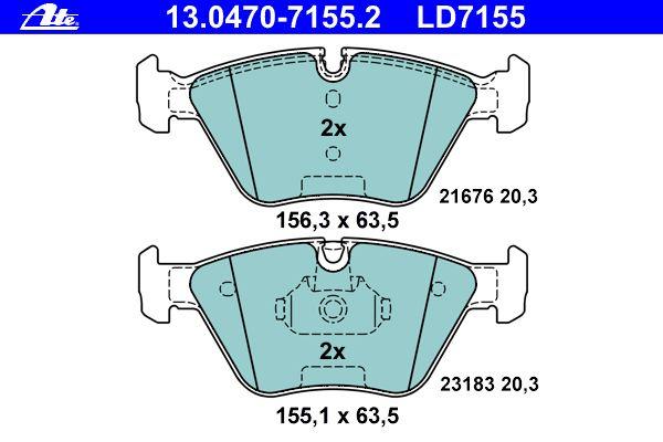 2.0+2.5+3.0+xDrive E83 ATE POWERDISC BREMSSCHEIBEN Ø325mm+CERAMIC VORNE BMW X3