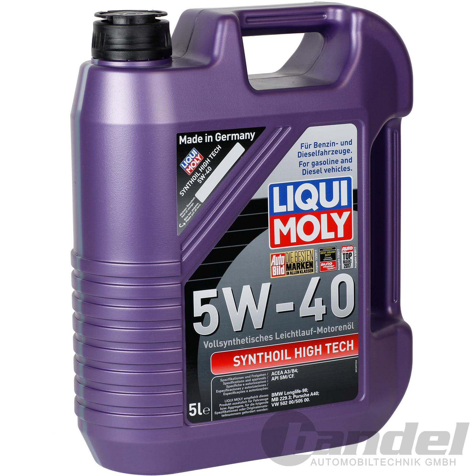 8 40 l 5 liter motor l liqui moly 1307 synthoil high. Black Bedroom Furniture Sets. Home Design Ideas