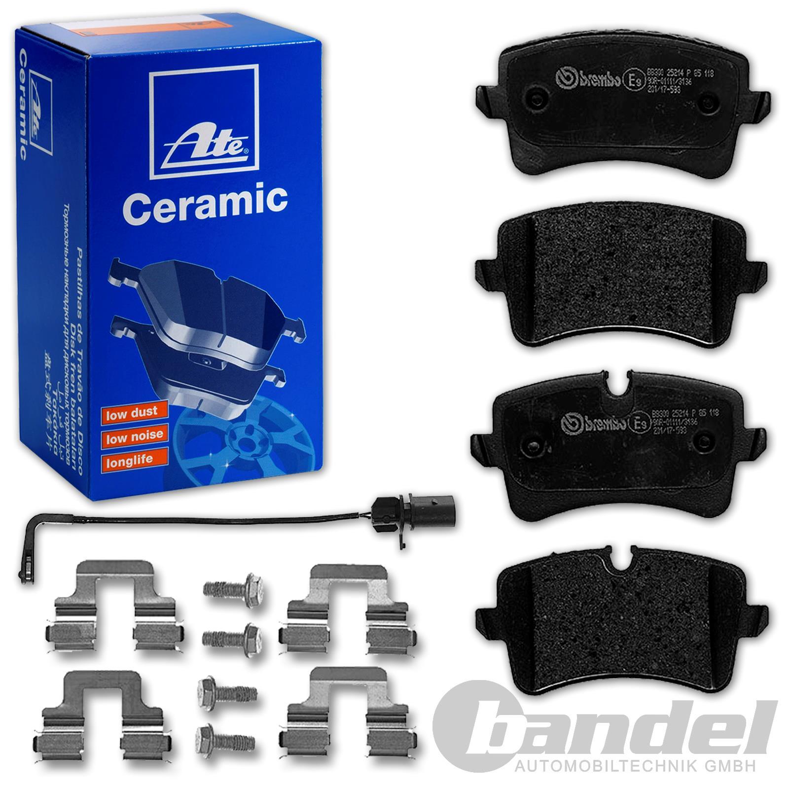 A6 AVANT ATE Bremsscheiben 330mm Ceramic Bremsbeläge für hinten AUDI A6