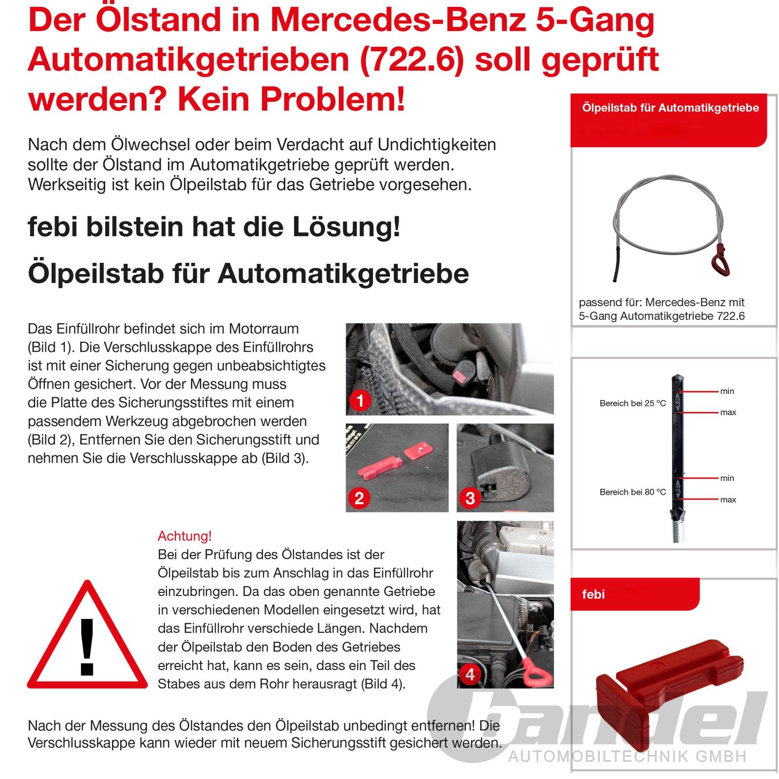 Automatikgetriebe Ölstand Peilstab Werkzeug für  Dodge Jeep vw