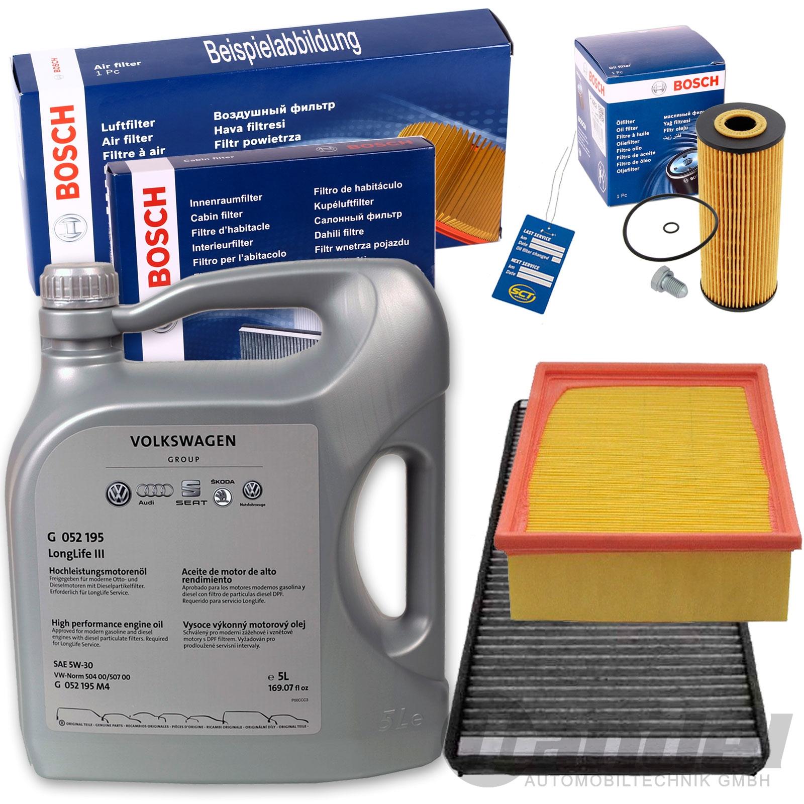 bosch filter inspektions set paket 5w30 motor l 1 9 tdi vw. Black Bedroom Furniture Sets. Home Design Ideas