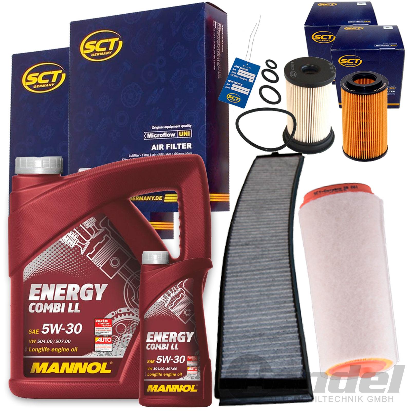 Innenraumluft 1 Oelfilter SCT Filter Set Inspektions Paket 1 Luftfilter 1 Kraftstofffilter 1 Filter