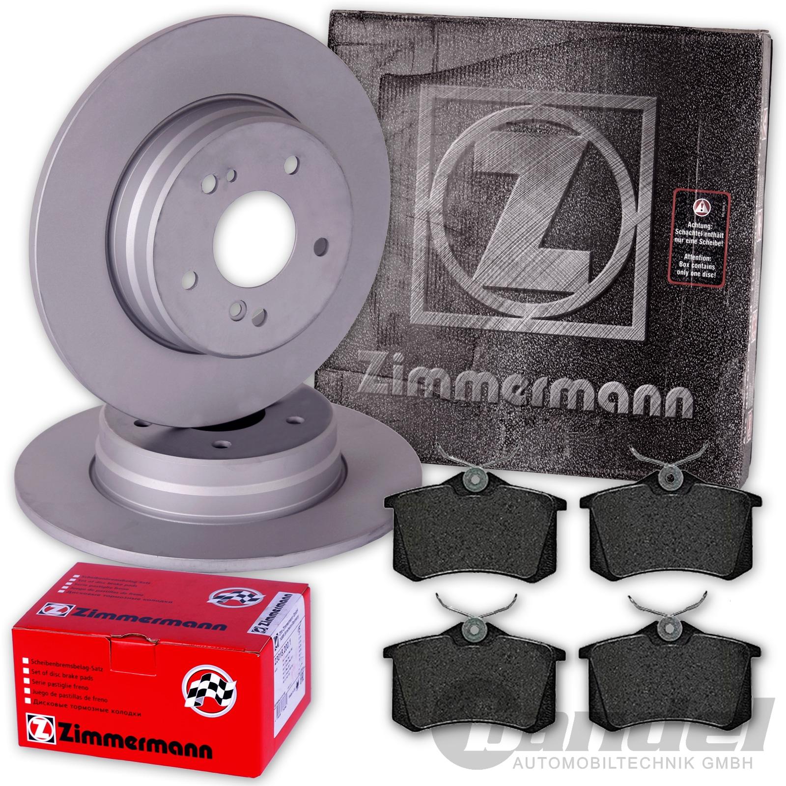zimmermann bremsscheiben 245mm bel ge hinten audi a4 8e. Black Bedroom Furniture Sets. Home Design Ideas
